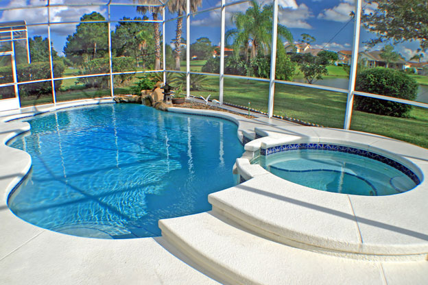 Ocean blue pool and spa your complete pool care company for Florida pool homes